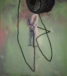 Ist da jemand? - 2012 - Tempera/Baumwolle - 100 x 70 cm