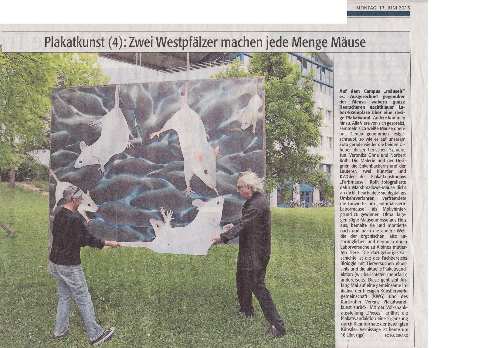 """""""Plakatkunst (4): Zwei Westpfälzer machen jede Menge Mäuse"""""""